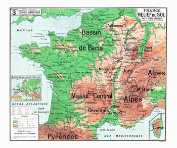 Tableau de la géographie de la France | Bibnum Education